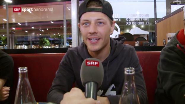 Video «Neues Team, neues Glück? Ein Besuch bei Dominique Aegerter» abspielen