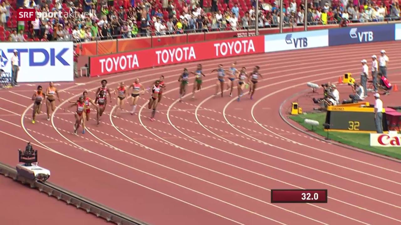 Leichtathletik: WM in Peking, Vorlauf 4x100 m Frauen