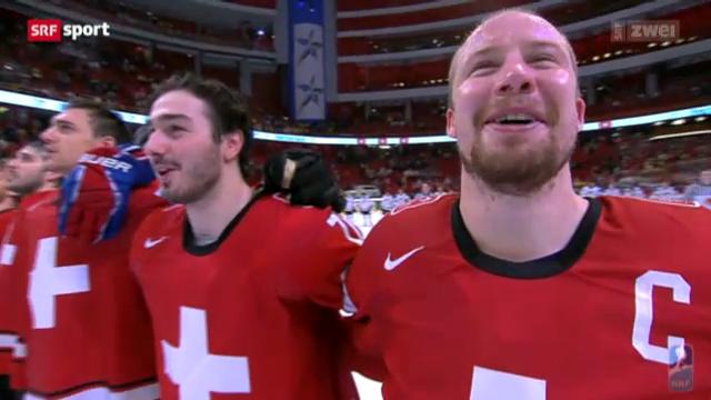 Eishockey: Schweizer Halbfinal-Triumph gegen die USA