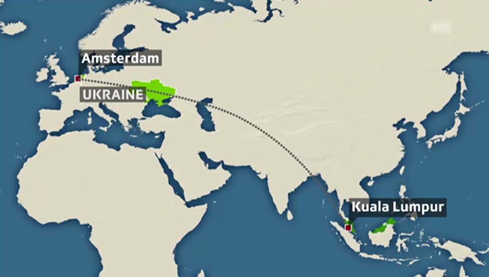 Route des Fluges MH17