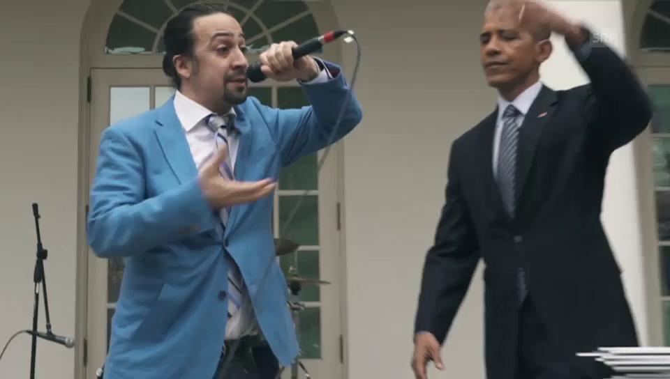 Obama als Rap-Gehilfe (englisch)