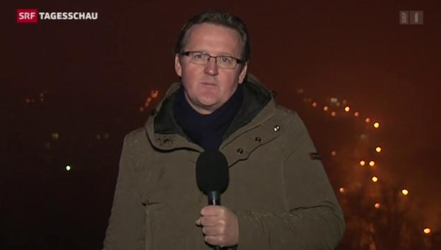 Video «SRF-Korrespondent Christof Franzen berichtet aus Donezk» abspielen
