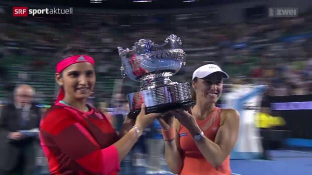 Video «Hingis/Mirza triumphieren auch an den Australian Open» abspielen