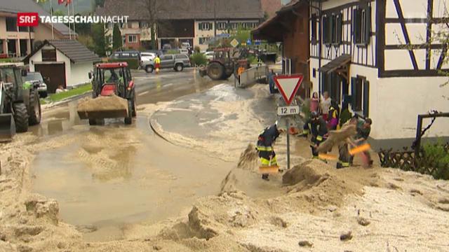 Tagesschau Nacht: Regen und Hagel in der Schweiz