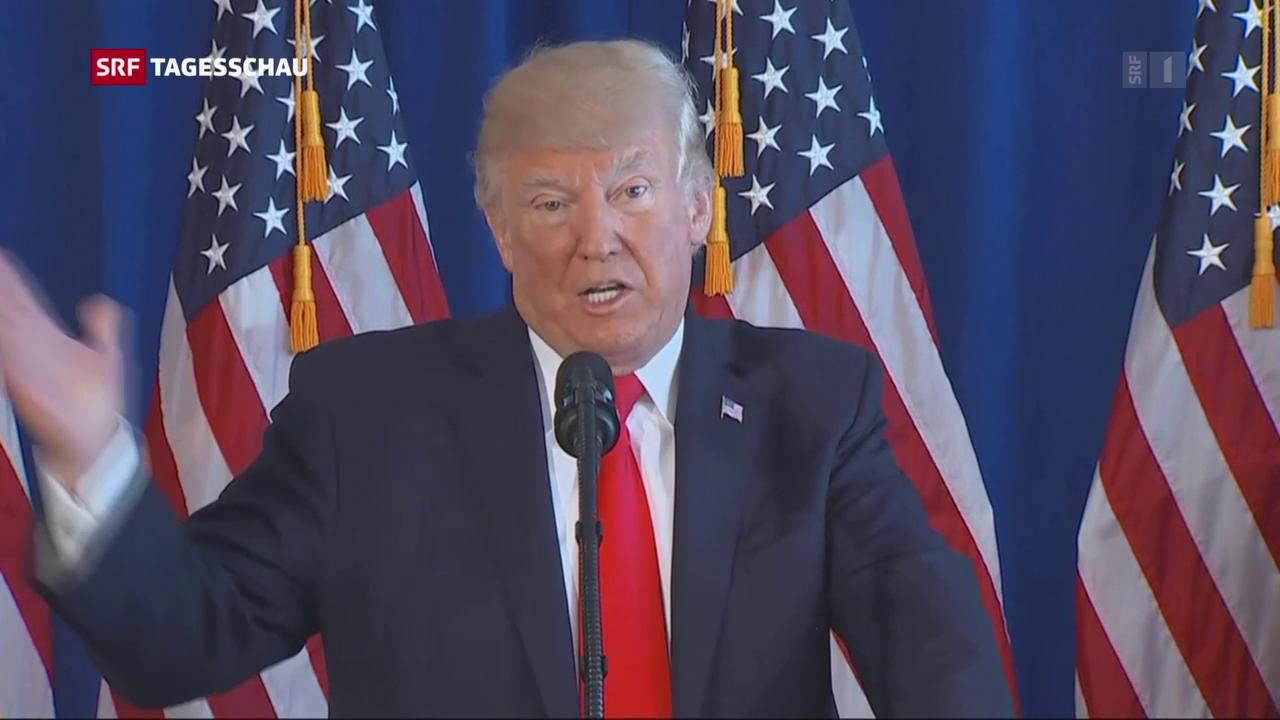 Trumps Reaktion auf die Gewalt in Charlottesville