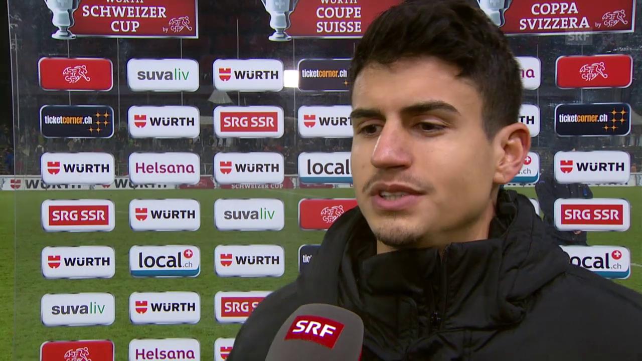 Fussball: Cup-Viertelfinal Aarau - Luzern, Interview Romano