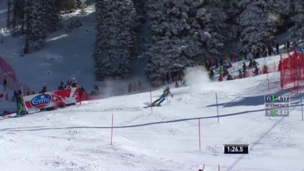 Video «Ski: SL Lenzerheide 2. Lauf Maze» abspielen
