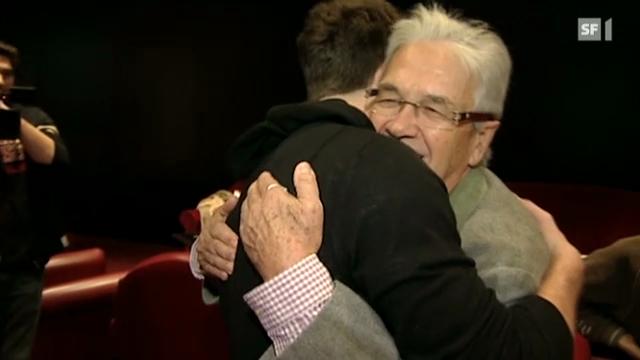 Bastian Baker bei Claude Nobs in Montreux