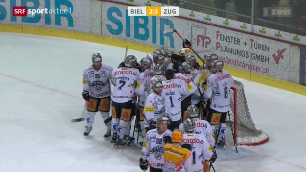 Video «Eishockey: Biel - Zug» abspielen