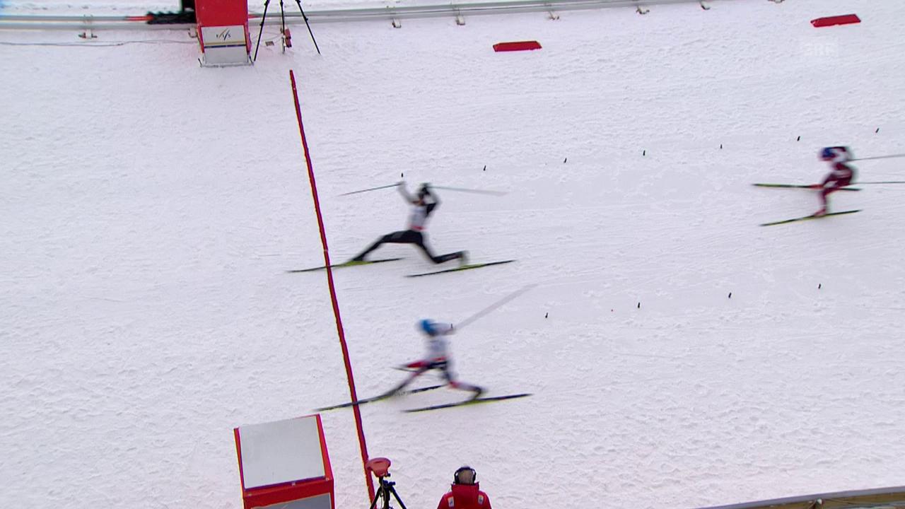 Hauchdünner Finish im 50-km-Rennen