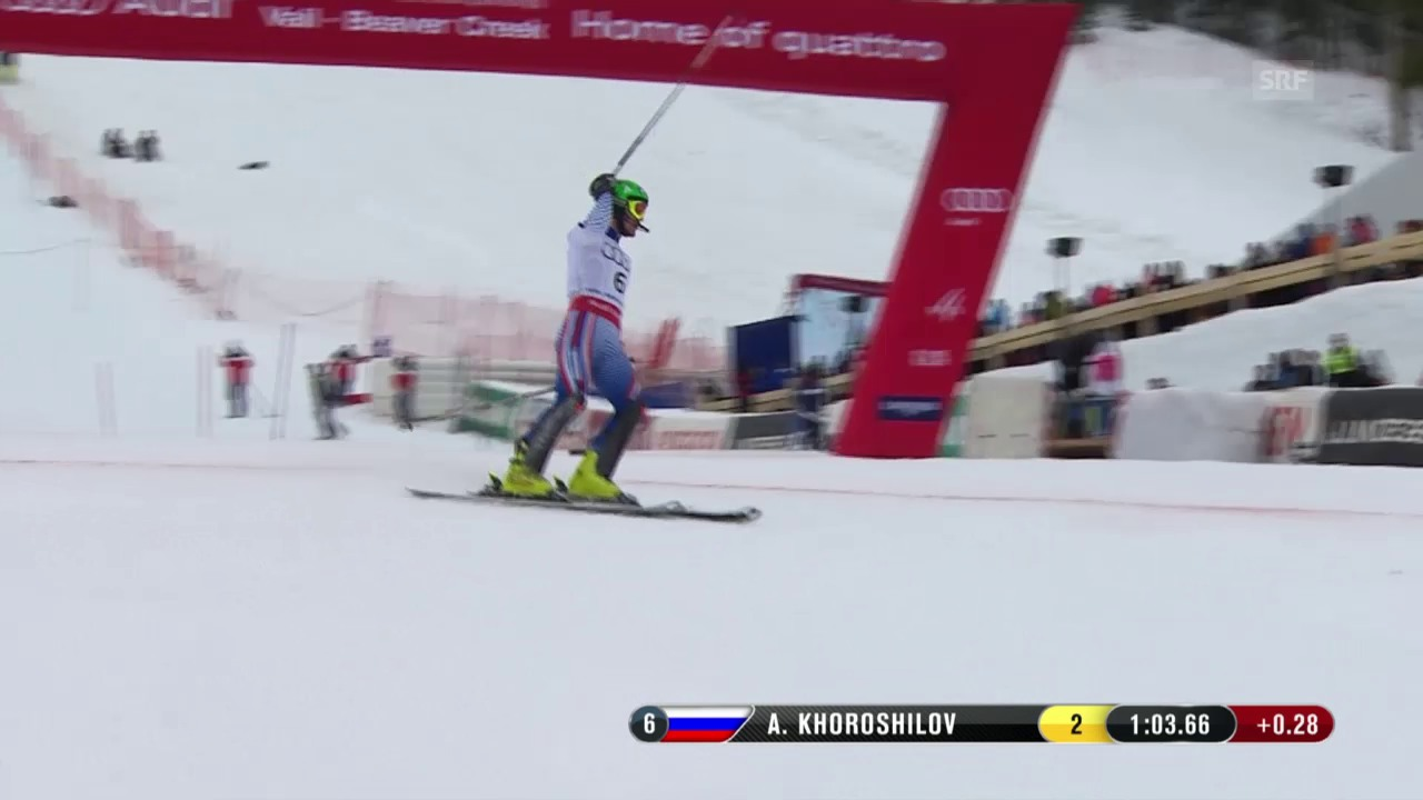 Ski-WM Vail/Beaver Creek, SL Männer, 1. Lauf Alexander Choroschilow