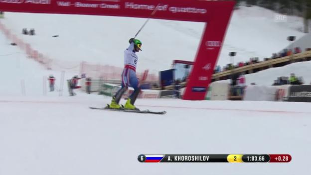Video «Ski-WM Vail/Beaver Creek, SL Männer, 1. Lauf Alexander Choroschilow» abspielen
