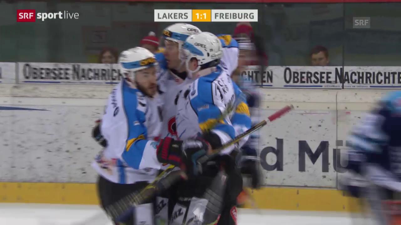 Eishockey: NLA, Platzierungsrunde, 4. Runde, Lakers - Freiburg