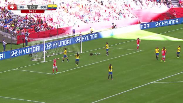 Video «Fussball: Frauen-WM, Schweiz-Ecuador, das 10:1» abspielen