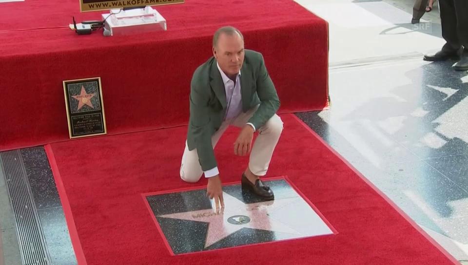 Ein Stern, der seinen Namen trägt: Michael Keatons Dankesrede