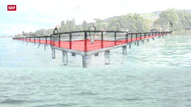 Ein Steg übers Wasser