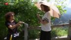 Video «Carla Juri zu Dreharbeiten im Bergell» abspielen