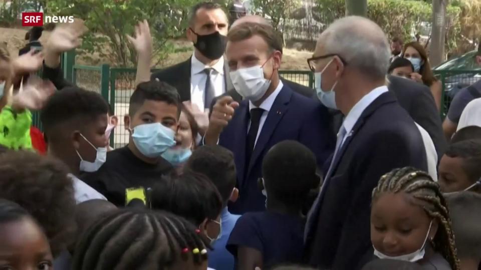 Präsident Emmanuel Macron in Marseille