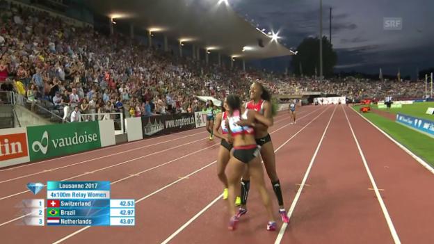 Video «Wie entfesselt: Die Sprintstaffel der Frauen» abspielen