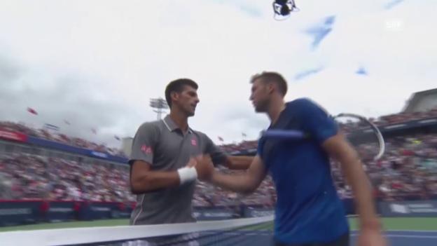 Video «Tennis: ATP Montreal, Achtelfinal, Novak Djokovic - Jack Sock» abspielen