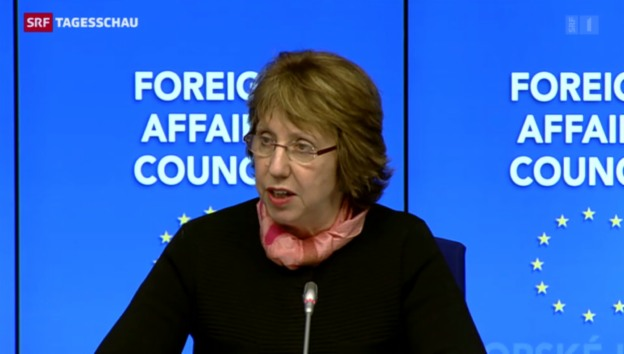 Video «EU-Aussenminister beraten die Krise in der Ukraine» abspielen