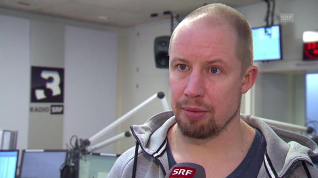 Video «Eishockey: ZSC-Verteidiger Mathias Seger im Interview» abspielen