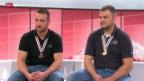 Video «Studiogäste: Die Radballer Dominik Planzer und Roman Schneider» abspielen