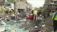 Video «Aufräumarbeiten in Bagdad» abspielen