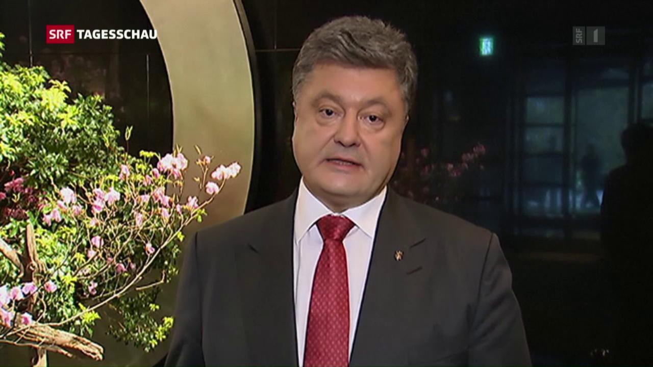 Poroschenko: «Angriff auf europäische Werte»