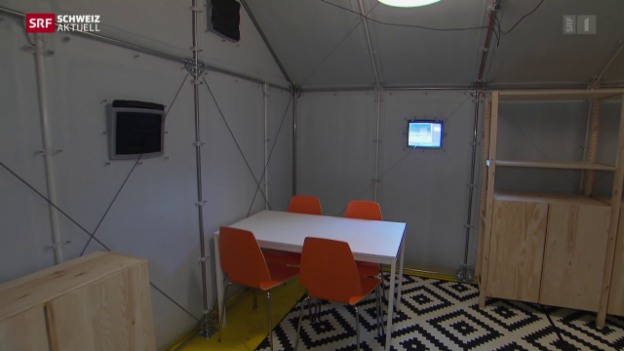 aargau kauft asylunterk nfte aus ikea bausatz news srf. Black Bedroom Furniture Sets. Home Design Ideas