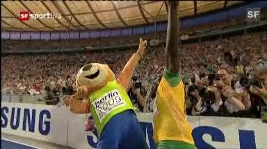 Video «Weiterer Fabel-Weltrekord für Bolt» abspielen