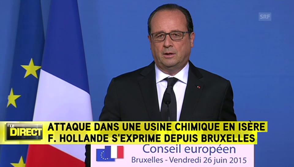 Erste Stellungnahme von Hollande