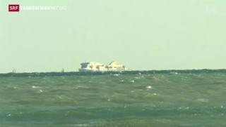 Video «Erneuter Flüchtlings-Frachter vor Italien » abspielen