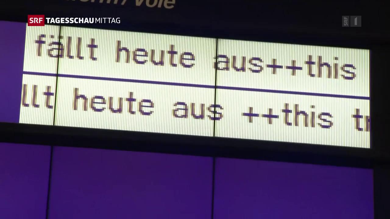 Erschwerte Zugfahrt nach Deutschland