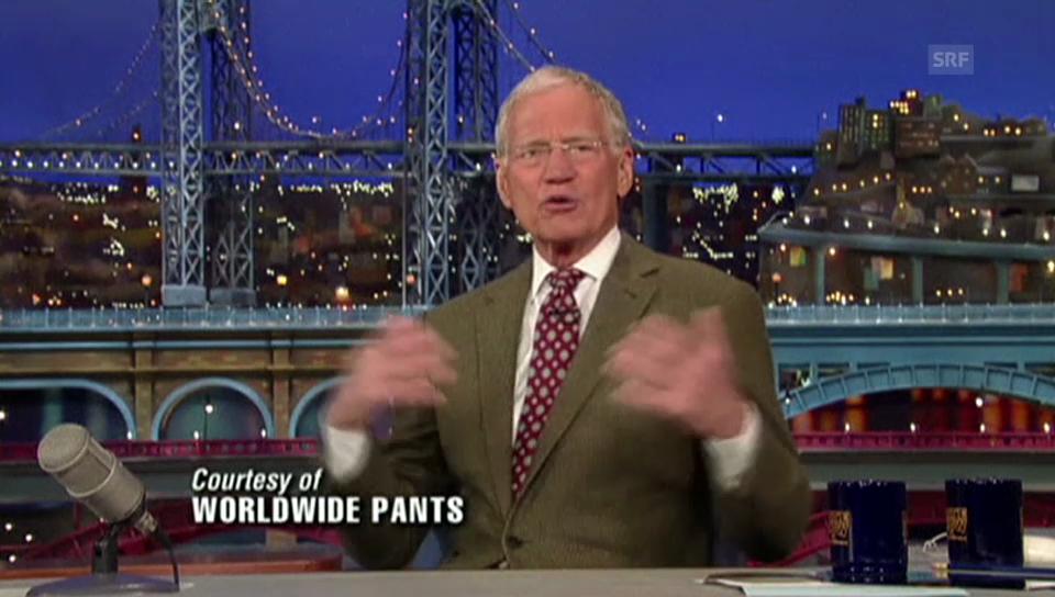 Letterman kündigt Ende an (Englisch)