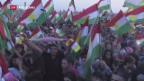 Video «Iraks Kurden stimmen über Unabhängigkeit ab» abspielen
