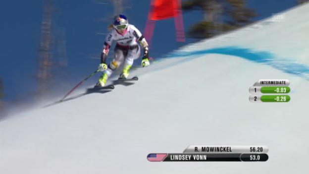 Video «Ski: Trainingsfahrt von Lindsey Vonn» abspielen