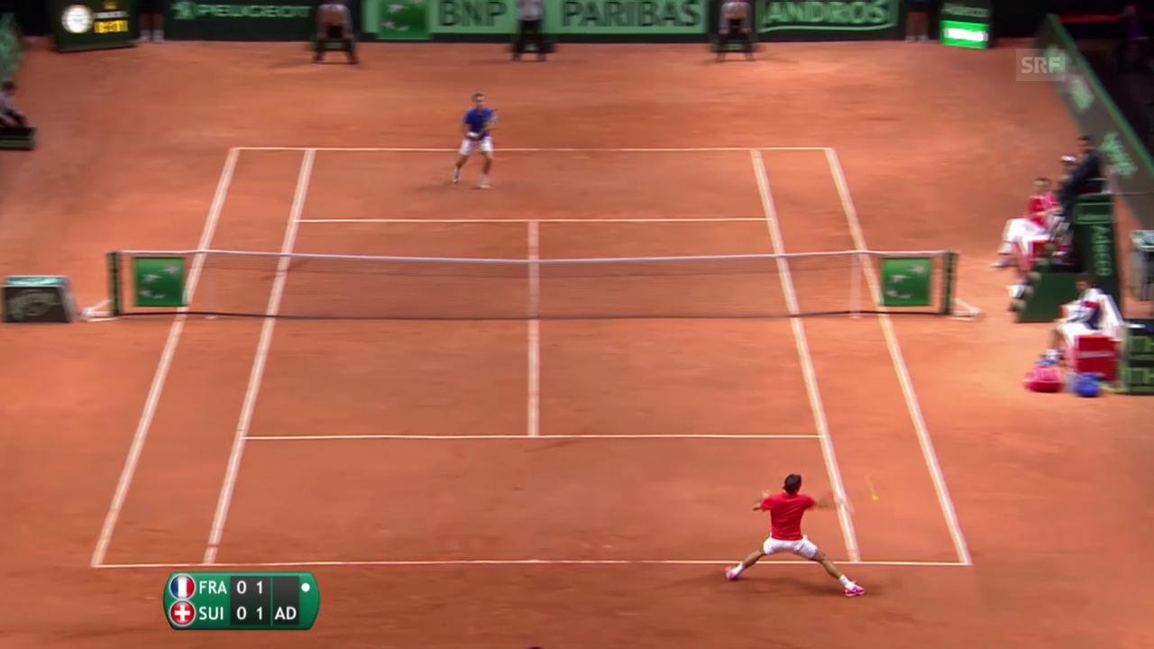 Breakball Federer zum 2:1