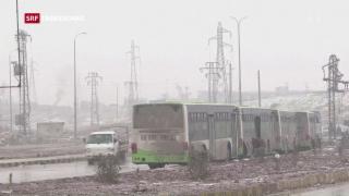Video «Rebellen und Regierung einigen sich auf Evakuierung aus Aleppo» abspielen