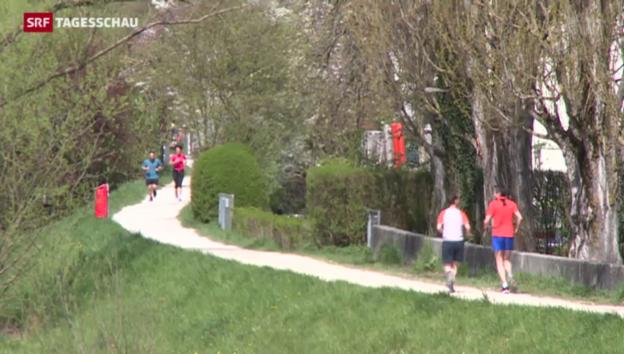 Video «Zahl der Jogger und der Verletzungen nehmen zu» abspielen