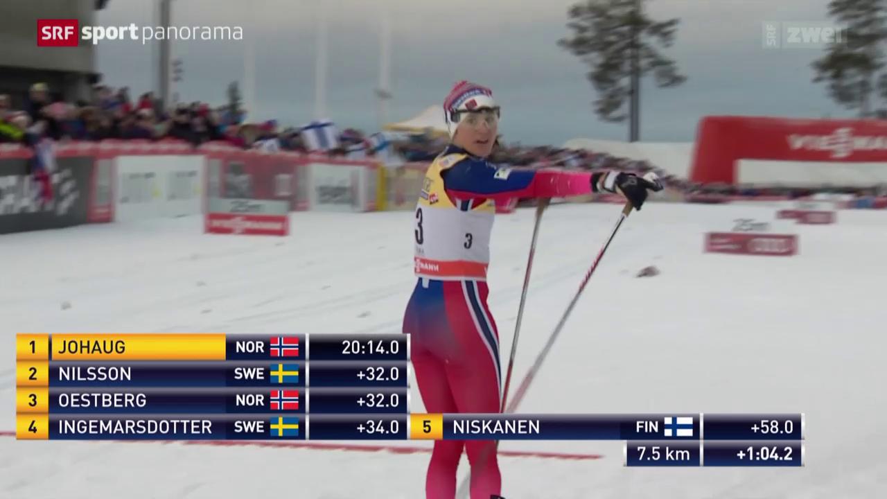 Langlauf: Weltcup in Kuusamo, 10 km Frauen