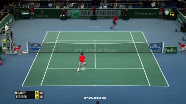 Video «Tennis: Paris-Bercy, Federer - Chardy» abspielen