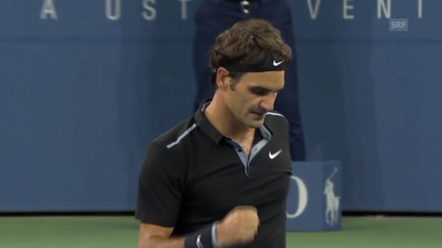 Video «Tennis: US Open, 1. Runde Federer - Matosevic» abspielen
