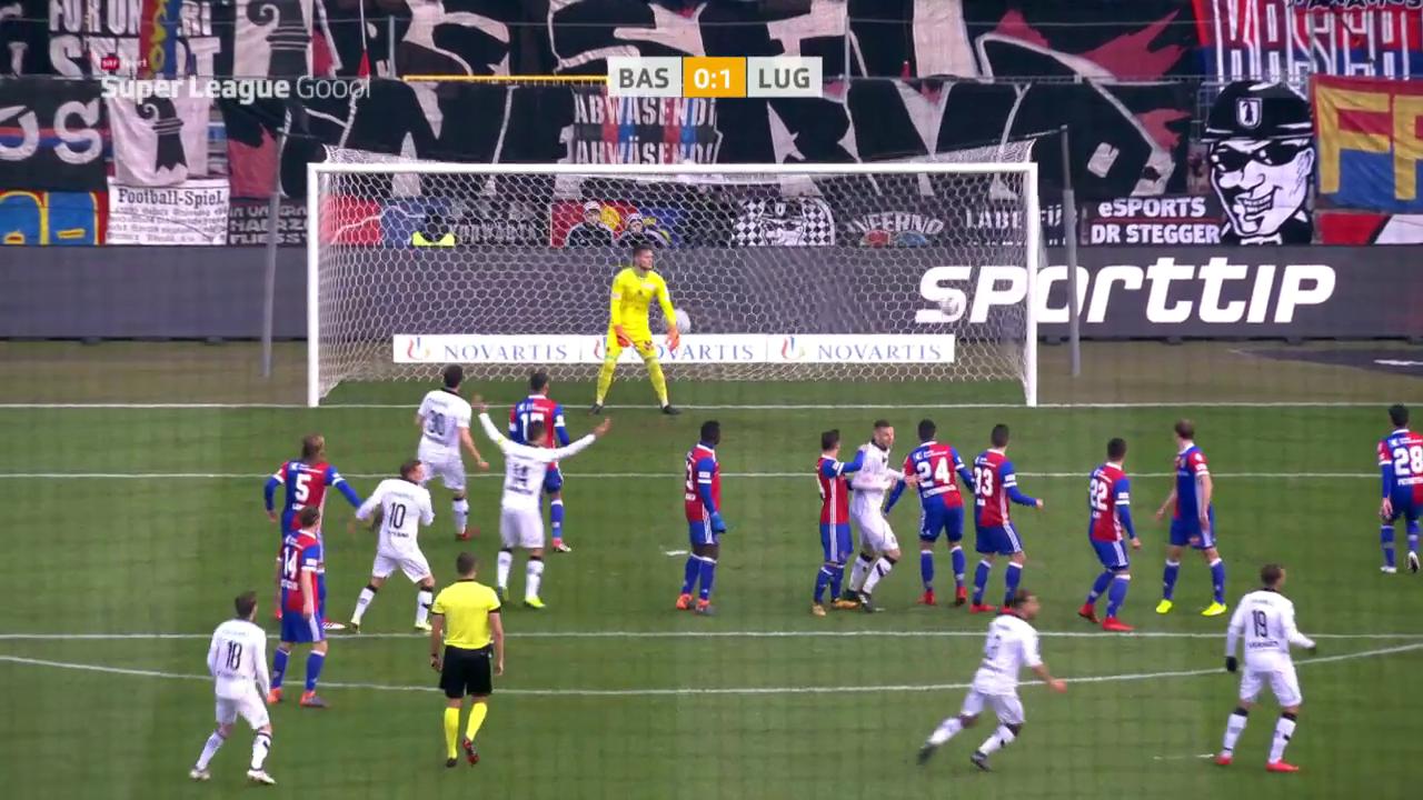 Lugano schlägt Basel mit 1:0