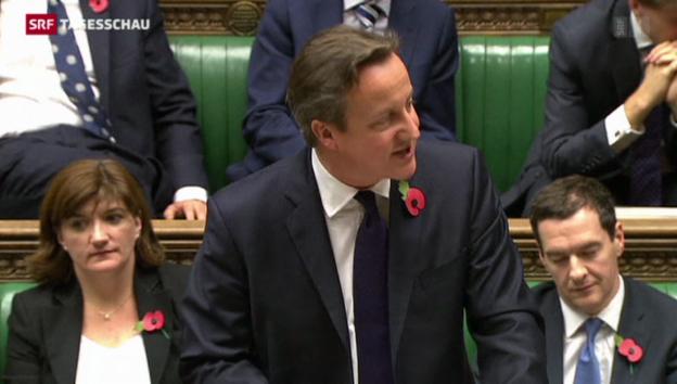 Video «Premier Cameron poltert gegen EU-Nachzahlung» abspielen