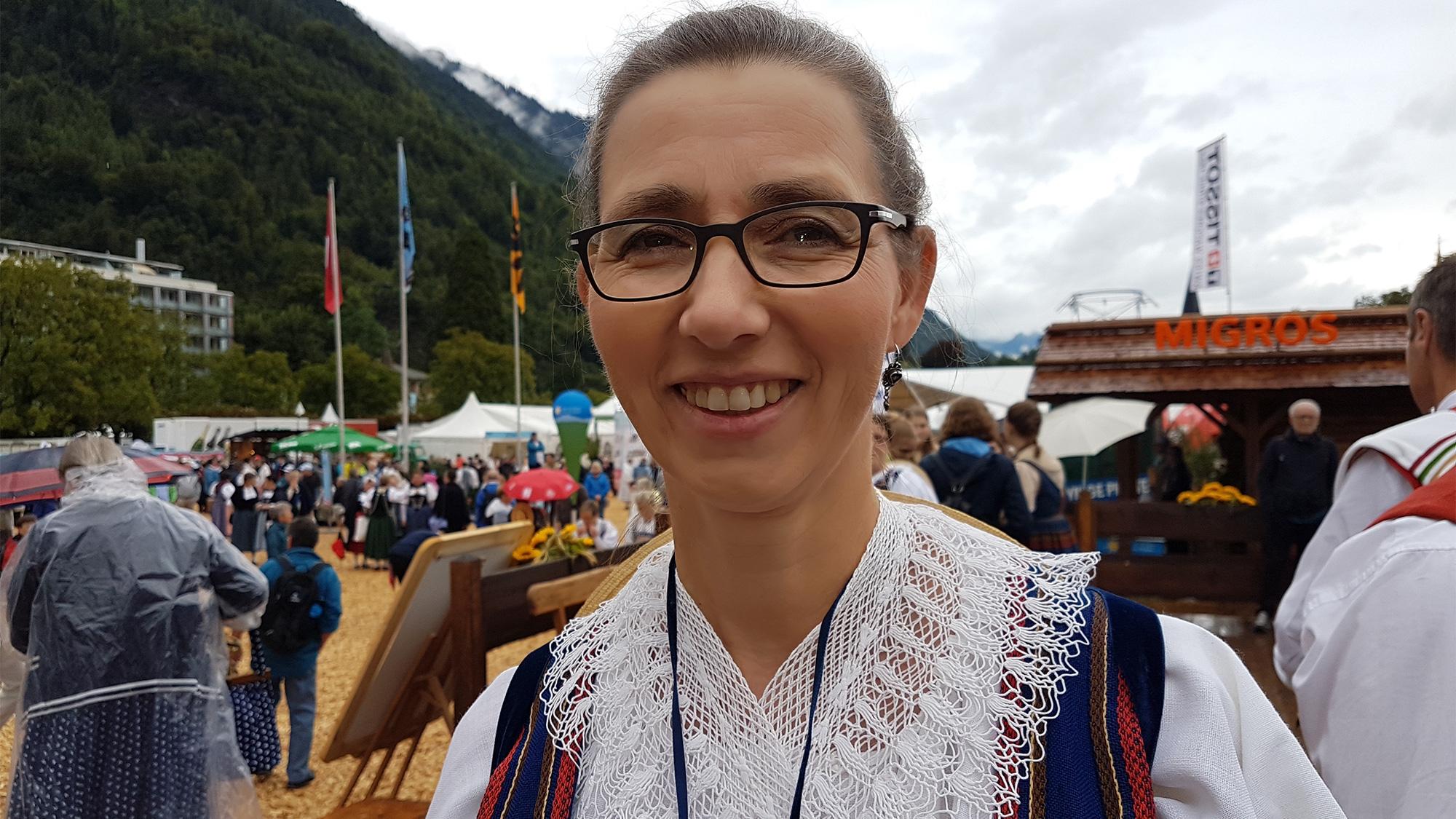 Maria Kaufmann und ihre Luzerner Sonntagstracht