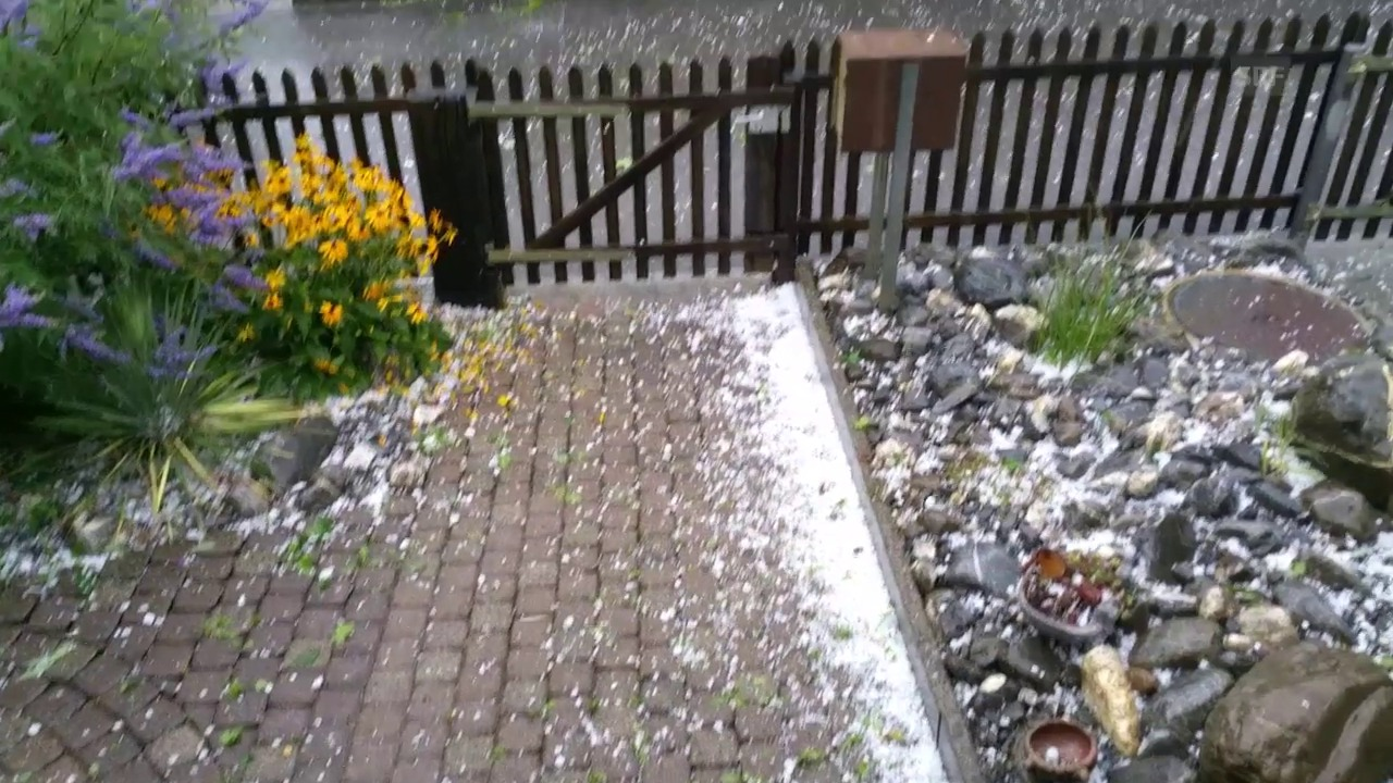Hagel in Winterthur Töss