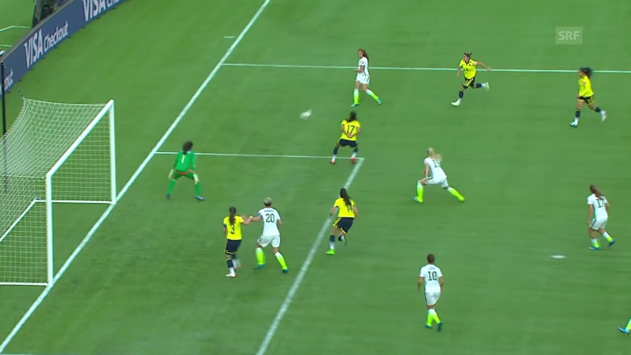 Fussball: Frauen-WM, Achtelfinal USA-Kolumbien
