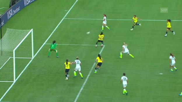 Video «Fussball: Frauen-WM, Achtelfinal USA-Kolumbien» abspielen