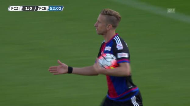 Video «Fussball: Super League, 11. Runde, Zürich - Basel, Augleich zum 1:1 durch Marc Janko» abspielen